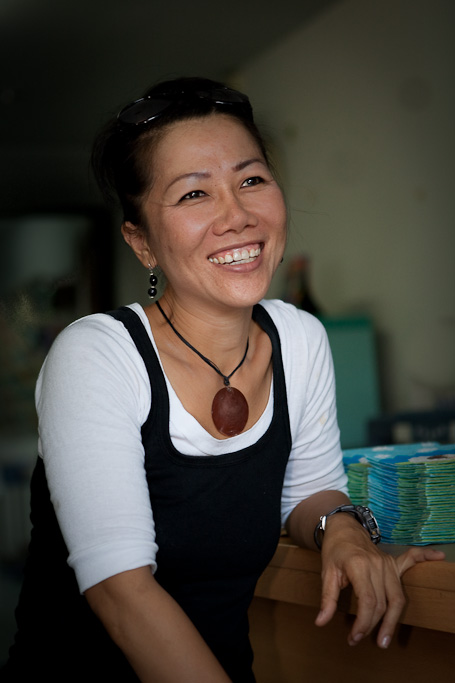 Khun Phon runs the card-making centre