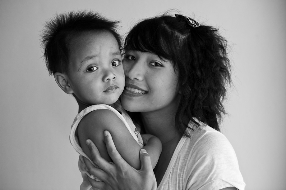 Khun Nok and her son